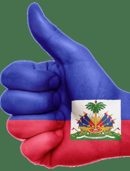 La noticia trata sobre la extensión del TPS Haití por 18 meses. La imagen muestra la bandera de Haití.