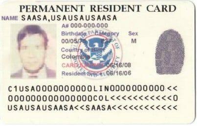 Nota explicativa sobre cómo puedo saber cuando me llega mi green card. La imagen es Ilustrativa.